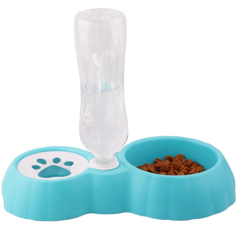 寵物狗碗可插水瓶飲水進食自動飲水器碗進食器食盆狗飲水器雙碗